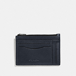 MULTIWAY ZIP CARD CASE - F66550 - MIDNIGHT NAVY/BLACK ANTIQUE NICKEL