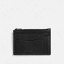 MULTIWAY ZIP CARD CASE - F66550 - BLACK/BLACK ANTIQUE NICKEL