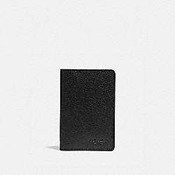 COACH F66574 - CARD WALLET BLACK/BLACK ANTIQUE NICKEL