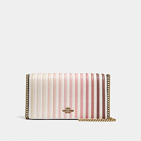COACH F66603 CALLIE FOLDOVER CHAIN CLUTCH WITH OMBRE QUILTING B4/CHALK