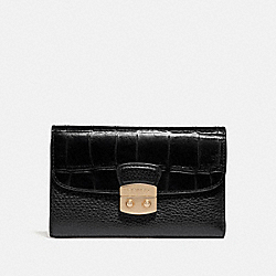 COACH F66629 Medium Envelope Wallet BLACK/IMITATION GOLD