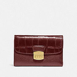 COACH F66629 Medium Envelope Wallet WINE/IMITATION GOLD