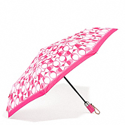COACH F66637 - PEYTON DREAM C UMBRELLA SILVER/WHITE POMEGRANATE