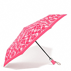 COACH F66637 Peyton Dream C Umbrella SILVER/CORAL