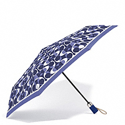 COACH F66637 Peyton Dream C Umbrella SILVER/NAVY