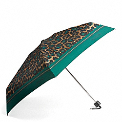 COACH F66638 Signature Stripe Ocelot Print Mini Umbrella