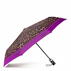 COACH F66639 - SIGNATURE STRIPE OCELOT PRINT UMBRELLA ONE-COLOR