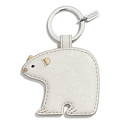 COACH F66660 Polar Bear Motif Key Ring