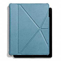 COACH F66725 Bleecker Leather Ipad 4 Case CADET