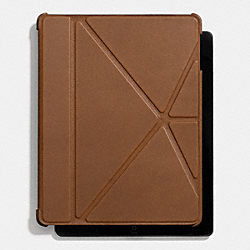 COACH F66725 Bleecker Leather Ipad 4 Case FAWN