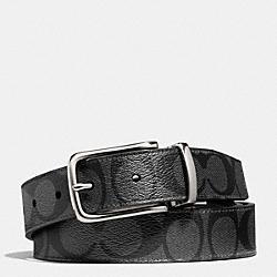 COACH F66733 Dress Weston Signature C Belt BLACK/CHARCOAL