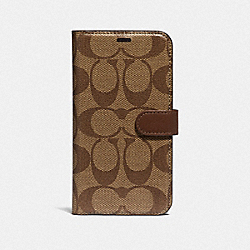 COACH F66736 Iphone X/xs Folio In Signature Canvas KHAKI