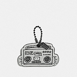 COACH F66748 Keith Haring Boombox Hangtag GUNMETAL/BLACK
