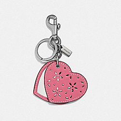 COACH F66749 Mirror Bag Charm STRAWBERRY/SILVER