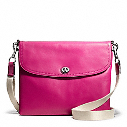 COACH CAMPBELL LEATHER TABLET CROSSBODY - ONE COLOR - F66785