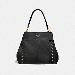 LEXY SHOULDER BAG WITH STUDS - F66874 - BLACK/IMITATION GOLD