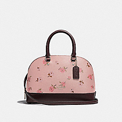 MINI SIERRA SATCHEL WITH TOSSED PEONY PRINT - F66878 - PETAL MULTI/SILVER