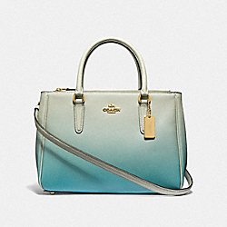 COACH F66884 - SURREY CARRYALL WITH OMBRE GREEN MULTI/IMITATION GOLD
