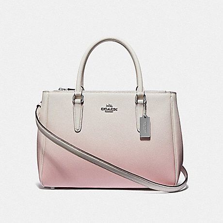 COACH F66884 SURREY CARRYALL WITH OMBRE<br>蔻驰萨里包与OMBRE 粉红色多银