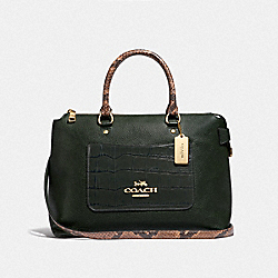 EMMA SATCHEL - F66886 - IVY/IMITATION GOLD