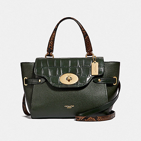 COACH F66887 BLAKE FLAP CARRYALL<br>蔻驰布莱克翼包 IVY/仿金
