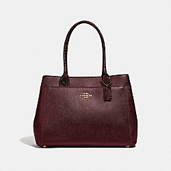 CASEY TOTE - F66888 - WINE/IMITATION GOLD