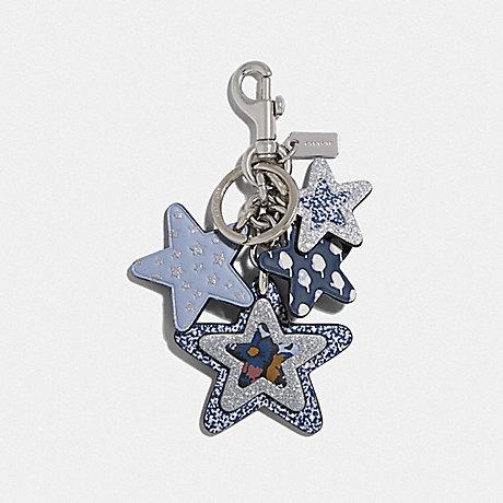 COACH F66905 STAR MULTIMIX BAG CHARM MIDNIGHT-NAVY/SILVER