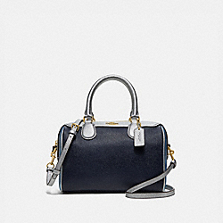MINI BENNETT SATCHEL IN COLORBLOCK - F66909 - MIDNIGHT MULTI/IMITATION GOLD