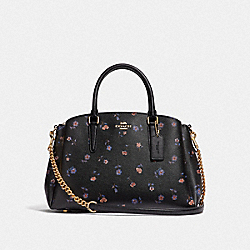COACH F66921 - SAGE CARRYALL WITH VINTAGE PRAIRIE PRINT BLACK/MULTI/IMITATION GOLD