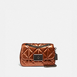 COACH F66923 - CASSIDY CROSSBODY WITH STUDDED DIAMOND QUILTING COPPER/BLACK ANTIQUE NICKEL