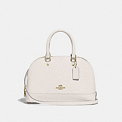 MINI SIERRA SATCHEL - F66932 - CHALK/LIGHT GOLD