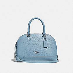 MINI SIERRA SATCHEL - F66932 - CORNFLOWER/SILVER