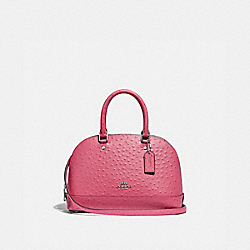 MINI SIERRA SATCHEL - F66932 - STRAWBERRY/SILVER