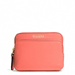 COACH F66938 Campbell Leather Double Zip Coin Wallet
