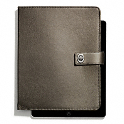 OCCASION METALLIC LEATHER TURNLOCK IPAD CASE - f66963 - 25332