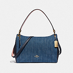 COACH F66964 - MIA SHOULDER BAG DENIM/LIGHT GOLD