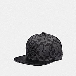 COACH F66987 - KEITH HARING SIGNATURE FLAT BRIM HAT GRAPHITE SIGNATURE