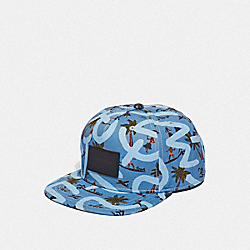 KEITH HARING FLAT BRIM HAT - F66988 - BLUE SURFER