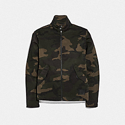 COACH F66990 - PRINTED BARRACUDA JACKET DARK GREEN CAMO