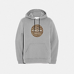 COACH F67001 - PULLOVER HOODIE HEATHER GREY
