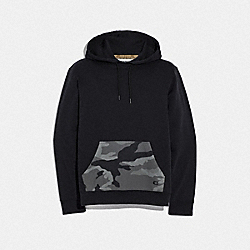 COACH F67002 Pullover Camo Hoodie BLACK