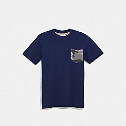 COACH F67003 Camo T-shirt BRIGHT NAVY