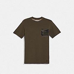 COACH F67003 Camo T-shirt DARK OLIVE