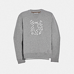 COACH F67010 Keith Haring Sweatshirt HEATHER GREY