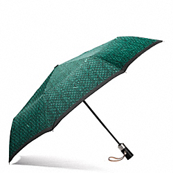 COACH F67017 Taylor Snake Print Umbrella SILVER/EMERALD