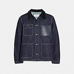 COACH F67018 Denim Barn Jacket RAW DENIM