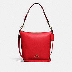 MINI ABBY DUFFLE - F67025 - IM/BRIGHT RED