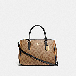 COACH F67026 - SURREY CARRYALL IN SIGNATURE CANVAS KHAKI/BLACK/IMITATION GOLD