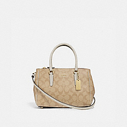 MINI SURREY CARRYALL IN SIGNATURE CANVAS - F67027 - LIGHT KHAKI/CHALK/IMITATION GOLD