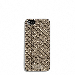 TAYLOR SNAKE PRINT IPHONE 5 CASE - f67057 - SILVER/GUNMETAL